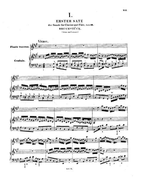 sheet for flute johann sebastian bach sonate in flute sonata in a major bwv 1032 bach johann sebastian