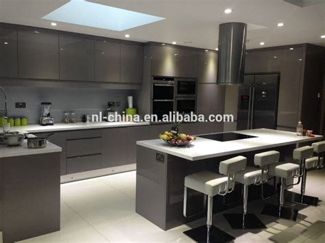 High Gloss Grey Kitchen Cabinets by 2014 Customized High Gloss Cabinet Door Factory Exporter