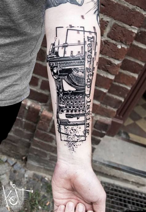 typewriter tattoo 25 best ideas about typewriter on