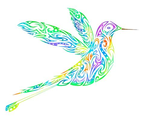 tribal hummingbird by dessins fantastiques on deviantart