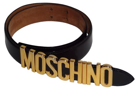 Moschino Belt vintage franco moschino by redwall blck leather movable letter belt ebay