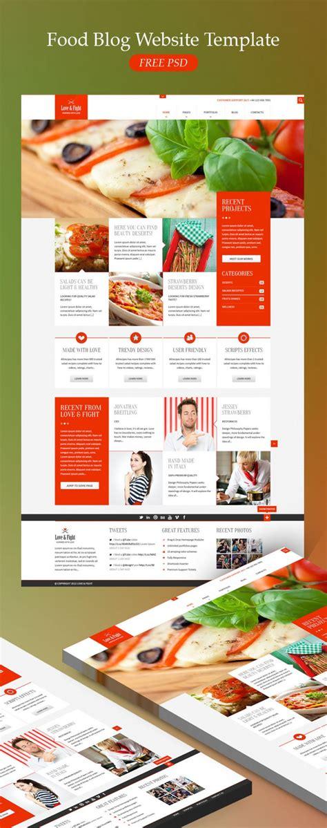 food business card templates psd food website template free psd psd
