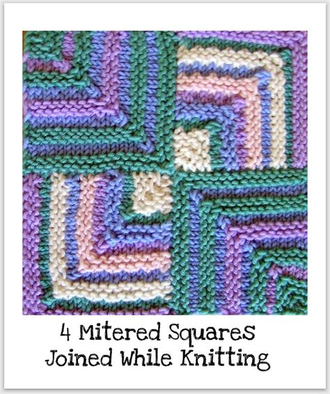 knitting squares joined mitered squares knitting