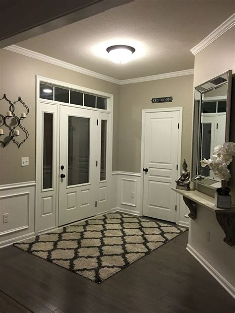entryway wainscoting anew grey sherwin williams