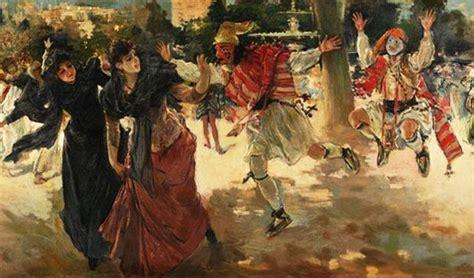 Masker Elmadea tarde de carnaval en la alameda 1889 ignacio pinazo camarlench costumbrismo
