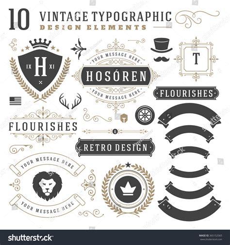 vintage vector design elements retro style typographic vintage design elements arrows retro typography stock