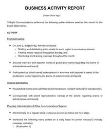 business report template business activity report templates 7 free pdf format