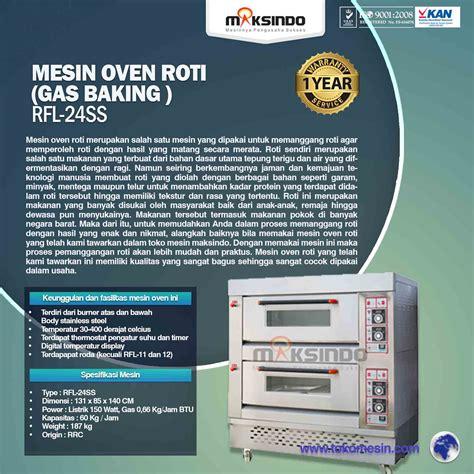 Oven Gas Di Bandung jual mesin oven roti gas 4 loyang mks rs24 di bandung