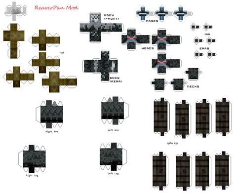 Minecraft Papercraft Mod - cerbersting papercraft reaverpan mod by viredragon090
