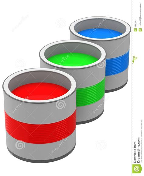 rgb paint cans stock image image 28303431
