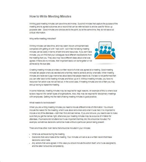 writing up minutes template how to write sle meeting minutes 12 free