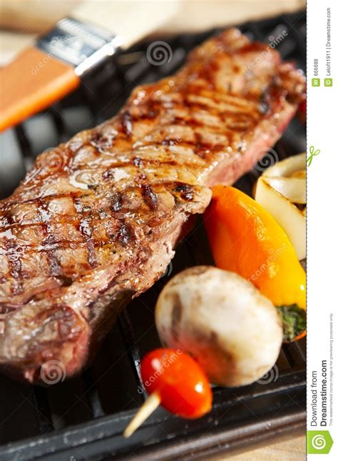 bbq steak dinner grill royalty free stock photos image