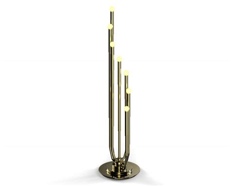 Gold floor lamps to give your home a fancy look