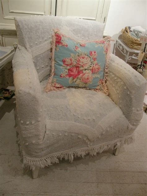 country slipcovers shabby chic antique chair white vintage matelasse bedspread shabby