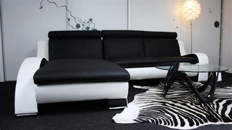 salon canapé noir vaisselier design blanc nitro