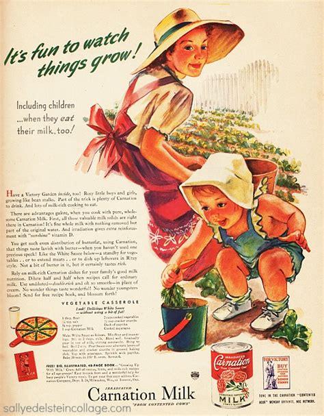 Gardening Ads Vintage Ad 1943 Carnation Milk