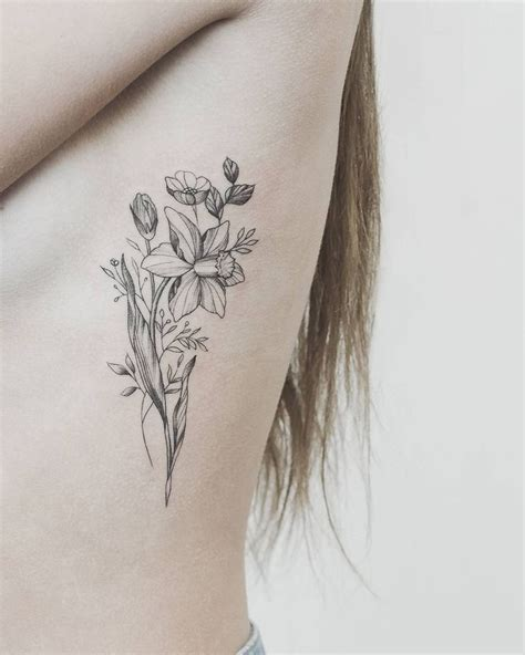 daffodil flower tattoo designs image result for narcissus flower tattoos