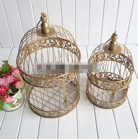 Hot Gold Bird Cage Decoration Hand made Candle Lantern