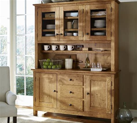 benchwright buffet hutch vintage spruce finish dining