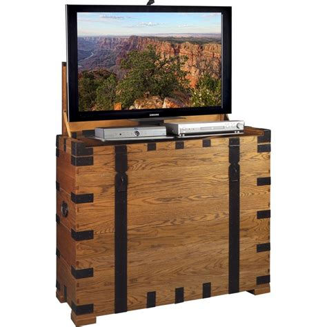 hide your tv cabinet tv lift cabinet at006274 steamer 47 quot flat panel tv