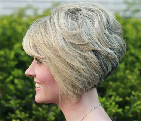 vies of side and back of wavy bob hairstyles side view of stacked bob haircut hottest short hairstyle