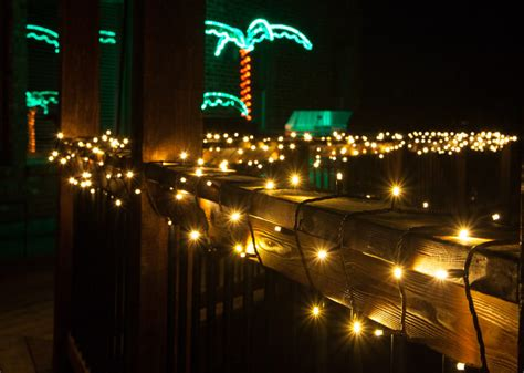 string lights on deck railing deck lighting ideas with brilliant results yard envy