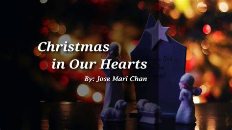 christmas songs jose mari chan lyrics in our hearts lyrics jose mari chan song in philippines