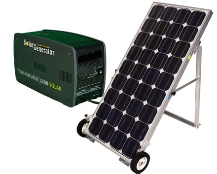 solar power backup generator