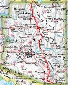 the wave arizona map arizona trail
