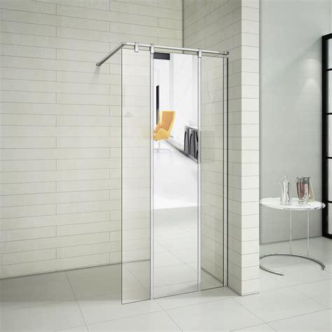 faltbare dusche duschabtrennung glas walk in grafffit