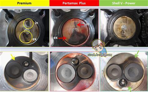 Pembersih Ruang Bakar Mesin Mobil bbm adu kebersihan ruang bakar jika pakai bbm premium
