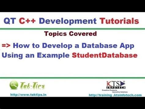 qt video tutorial youtube qt c database application programming video tutorial