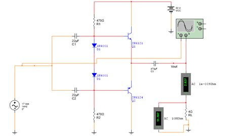 vcc  power amplifier     watts