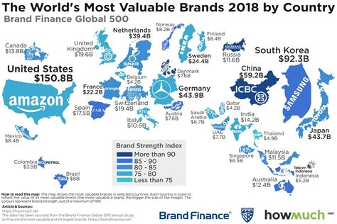 The 100 Most Valuable Brands In The World Business Insider by Mapping The World S Most Valuable Brands In 2018