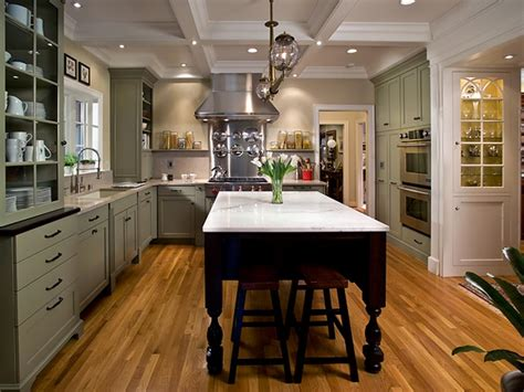 green kitchen island charming mint kitchen laura dalzell hgtv