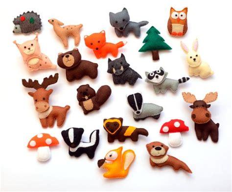 Animal Fridge Magnet felt forest animals fridge magnets
