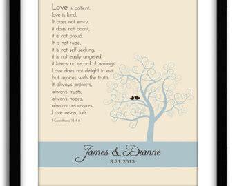 Wedding Anniversary Bible Verses by Wedding Bible Verse 1st Corinthian 13 Customized Wedding