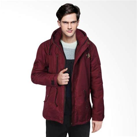 Jaket Parka Bolak Balik Merah Maroon jual adamsbell parka hoodie trendy jaket pria merah maroon harga kualitas terjamin