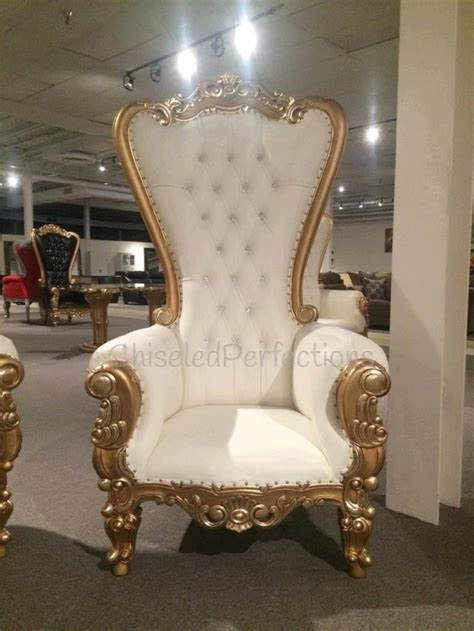 Rent Throne Chairs Throne Chair Ivory W Gold Trim Rentals New Orleans La