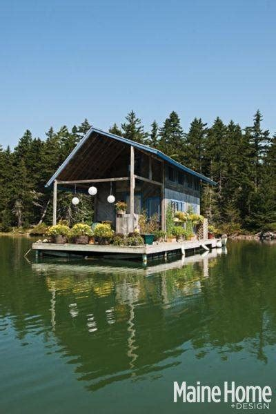 whatever floats your boat denis tour this floating cabin in maine maine home and design