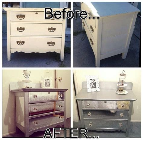 Diy Mirrored Desk Diy Mirror Dresser Upgrade From Trash To Treasures Pinterest I And Drawers