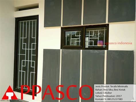 teralis jendela minimalis besi kotak di cibubur jual