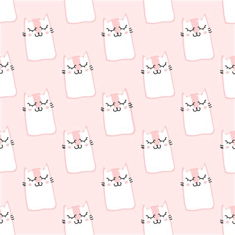 pink kitty pattern free vector graphic pattern cat pink cute sweet