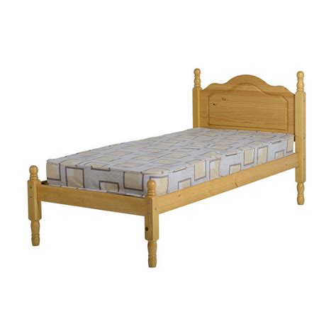 Sol Bed Frame Single 3ft Antique Pine Wooden With Pine Single Bed Frame