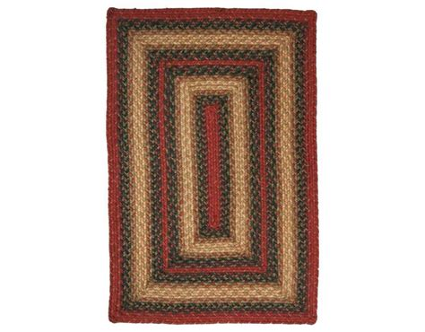 Homespice Decor Jute Braided Rectangular Red Area Rug Rectangular Braided Area Rugs