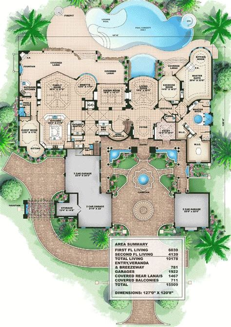 25 best ideas about mansion floor plans on