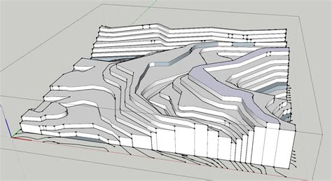 Creating A Topography Mesh From Flat Contours In Sketchup Tutorial Sketchup Tutorials