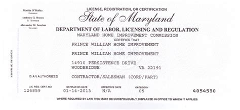 prince william home improvement virginia and maryland