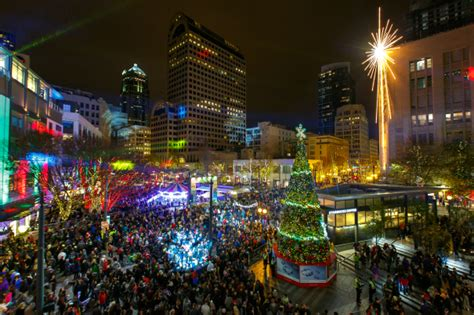 christmas tree lighting seattle attractions in downtown seattle
