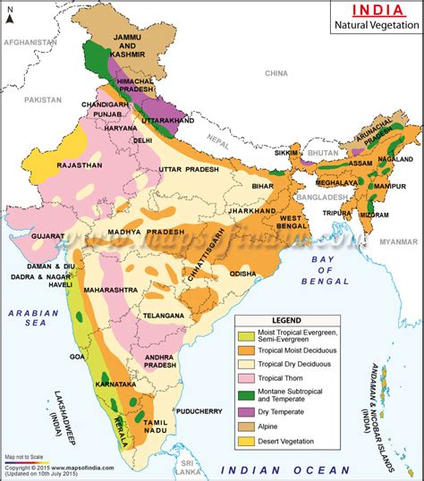 kinds of maps notes on vegetation and wildlife of india oblity